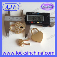 best padlocks - The gold love padlock embedded in Czechic rhinestones is the best Wedding gift for you