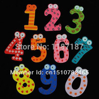 Wholesale Hotsale Wooden Number Lovely Fridge Magnets Toy Set for Kids Children New A1813 Zda0N5