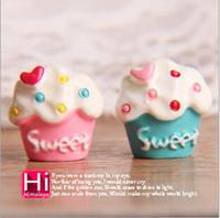animal cupcake decorations - Chic Girl Love heart Sweet Cupcake decoration accessory Fridge magnet sticker decals Ice cream cone