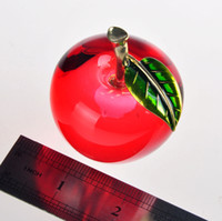 apple paperweight - Smooth Single Crystal Red Apple jellyfish paperweight happy wedding wicca souvenir novelty households