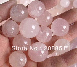 Wholesale-10 pieces NATURAL ROSE QUARTZ CRYSTAL SPHERE BALL HEALING 20-25mm Free Shipping
