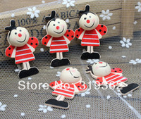 beetle craft - Painted Wood Smiling Bees beetles Craft Ornament for Scrapbooking x mm W02325