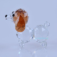 animal crystal figurines - crystal glass figurine dog puppy animal statue lovely crystal poodle dog animals for gifts