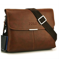 Cheap 2015 HOT New Polo Men Leather Clutch Handbag Brand Designer Shoulder Bags High Quality Big Messenger Bags Purse Briefcases