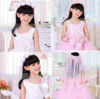 baby hair musical - 2015 pink lace garland lovely baby hair accessories girls wedding dresses flower Musical Pantomime
