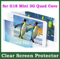 "Cheap 2pcs Clear Screen Protector Protective Film Size 196.1x132mm for 7.9"" Tablet Teclast G18 Mini 3G Quad Core w  Retail Packaging"