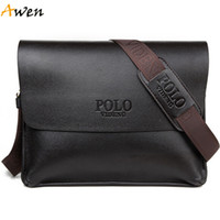 Wholesale Awen new arrival high quality horizontal vintage leather messenger bag for men leisure mens leather briefcase mens shoulder bags