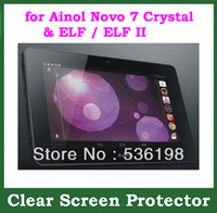 ainol elf screen - 2pcs Customized Clear Screen Protector Film for Ainol Novo Crystal Quad Core ELF ELF II with Retail Package