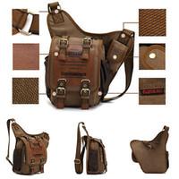 Wholesale Vintage Men Boys Canvas Single Shoulder Bag Rucksack Backpack Sling Bag