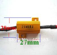 aluminium rates - Motorcycle CAR Golden Load Resistors LED Indicators Flash Rate Controllers LED aureate aluminium shell resistance