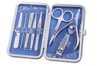 Wholesale Pieces Nail Tool Sets Manicure Pedicure Kit Pliers Edition Nail Clipper Kit Stainless Steel Manicure Set MHA