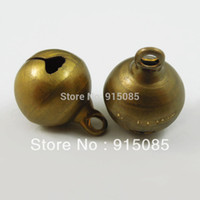 african christmas decorations - 12mm Vintage Bronze Brass Metal Jingle Bell Christmas Decoration