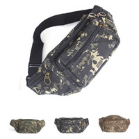 Wholesale Hot Selling Casual Canvas Multifunctional Camo Fanny Pack Pocket Pouch Travel Mobile phone bag Camping Waist Hip Bum Belt Bags