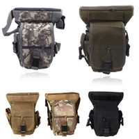 116 cm Yes Trunk Wholesale-5 Colors Multi-purpose Men Sports Tactical Bag Waist Pack Drop Leg Bag Outdoor Motorcycle Bike Cycling Thigh Pack Waist Belt