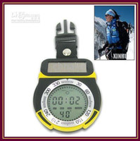 Wholesale 2pcs Solar Power Multifunction Digital Altimeter with Compass and Inch LCD Screen RW O005