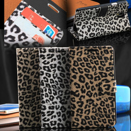 Luxury Leopard Leather Flip Case For Samsung Galaxy Note 3 III N9000 Stand Wallet Covers With Card Slot Cover For Galaxy Note 3