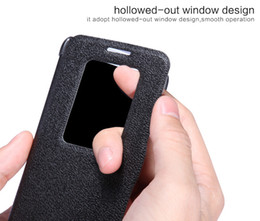 NILLKIN New Leather Case For G2 mini(D618) Flip Leather Case Cover For G2 mini(D618) Free Shipping with Screen Protector