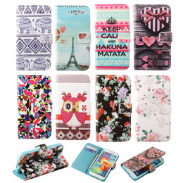 PU Leather Flower & Tower Heart Stand Style Flip Wallet Cover Case For Samsung Galaxy S3 mini i8190 Free Shipping + Soft TPU