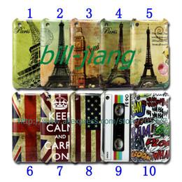 Vintage keep calm UK US flag HAHA Stamp Eiffel london big ben tape hard Case for  3G 3GS 1pcs lot by post