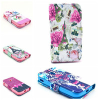 ace tiger - Top Wallet Stand Design Flip Leather Case Flower Tiger Tower For Samsung Galaxy ACE i8160 Phone Bag Luxury Cover case WA009