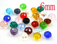 plastic beads - 1000pcs DIY jewelry beads mm MIXED Color Clear Acrylic plastic Bead flat Facet Beads