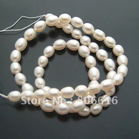 Wholesale 7 MM Natural Fresh water Loose Pearl Strand Bead Jewelry Beads