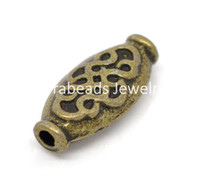 Wholesale Bronze Tone Pattern Spacer Beads x7mm B14497
