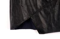 Cheap 2015 new Irregular skin leather skirt PU leather the skirts stylenanda high waist was thin package hip skirt