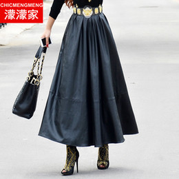 Ankle Length Leather Skirt