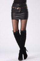 Wholesale 2015 Spring Fashion motorcycle High quality Leather skirt sexy Package buttocks pencil skirts