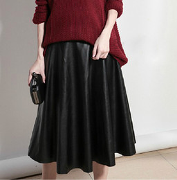 Long Faux Leather Skirt