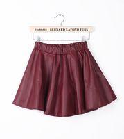 american apparel leather skirt - Free Ship New Korean Fashion PU Leather Skirt Women Vintage High Waist Pleated Short Skirts american apparel tennis skirt