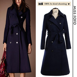 Discount Ladies Long Navy Wool Coat | 2017 Ladies Long Navy Wool ...