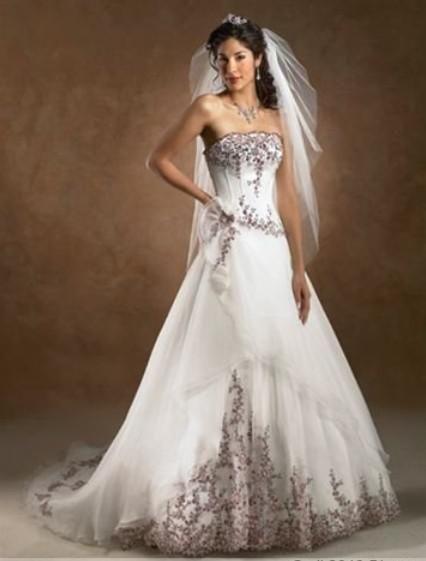 Jane empire sleeveless wedding dresses white pink green yellow
