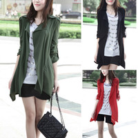 army trench coats for sale - Hot Sale Autumn Spring Fashion Cardigan Trench Coat For Women Casual Retro Elegant Lapels Coat Drop Shipping Colors