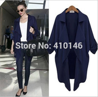atmosphere trench coat - 2015 women trench coat European Style Fashion casual atmosphere ladies big yards simple windbreaker S XL WT03