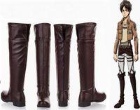 attack types - Attack on Titan Cosplay High Boots Shingeki no Kyojin Eren Jaeger Mikasa Ackerman Shoes EUR size brown type