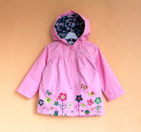 baby clothing items - new item Foreign original Children s clothing waterproof trench baby with a hood outerwear topolino