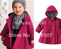 baby clothese - Hot selling baby wear vogue girls thick warm woolen coat clothese girls coat in stock