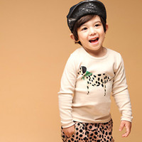 active dog wear - springtime Hot sale child clothing baby boy girls sets Spotty dog Korean Active Motile Kids wear
