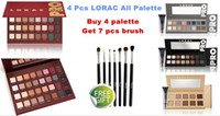 Wholesale New Makeup LORAC MEGA PRO eyeshadow Palette Colors and LORAC UNZIPPED palette colors Eyeshadow With Eye Primer