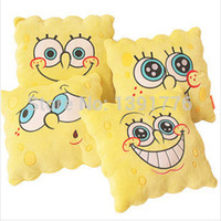 animal face pillows - Large Sponge Bob Square Pants Cute face cushion soft pillow plush toy Birthday Gift