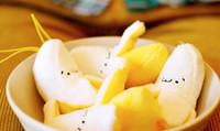 achat en gros de peluche banane-Vente en gros-10PCS miniature 6CM nouvelle banane en peluche jouet en peluche ; Petit téléphone bracelet pendentif Charm sac porte-clés poupée de jouet ; Weddng Bouquet jouet
