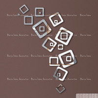 art portfolio - 3D mirror wall stickers square decorative wall stickers portfolio