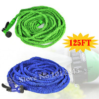 Wholesale Car Wash Guns - Wholesale-125FT Amazing Plastic Manguera extensible Hose to Watering 125FT Flexible Garden Water Hose with Spray Gun Car Wash