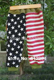 Wholesale 2015 winter fur inside warm baby pants American Flag thick baby clothing colors size QL85