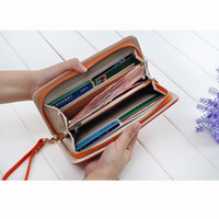 ans nylons - 2015 Fashion Crocodile Prints Wallet Women Genuine Leather Long Wallets Day clutch Coin Purse Bag Handbag ANS OL