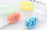 Wholesale 1set New Portable Travel Toothbrush Head Cover Case Protective Caps Health Germproof