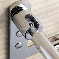 bathroom hook rail - Stainless Steel Towel Rack Rail Holder Shelf Hook Bathroom Wall Mounted Storage