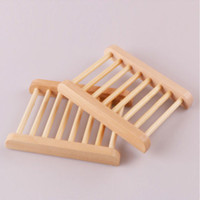 bamboo dish holder - Home Bathroom Bamboo Toiletries Wooden Soap Dishes Washing Container Box Holder